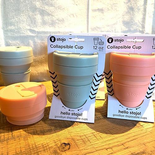 ニューヨーク発の再利用できるポータブルカップ、stojo(ストージョ)