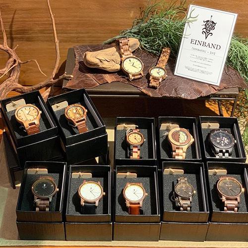 「EINBAND(アインバンド)」=【絆】という意味を持つ、日本の木製腕時計ブランド。この度、ご縁があってお取扱いをスタートしました。